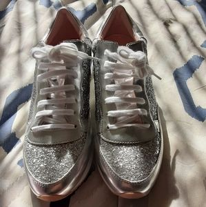Kate Spade Glitter Sneakers Shoes Size 11